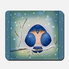 Blue Bird Winter Mousepad