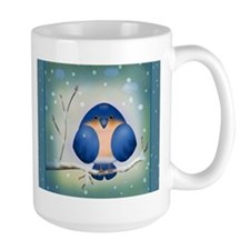 Blue Bird Winter Mugs