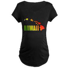 Hawaiian Islands Maternity T-Shirt