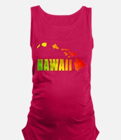 Hawaiian Islands Maternity Tank Top