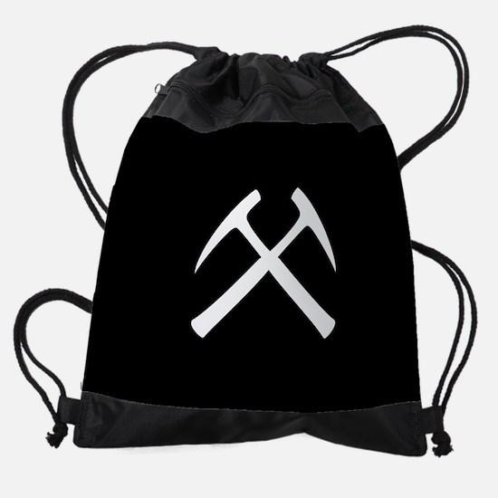 Crossed Rock Hammers Drawstring Bag