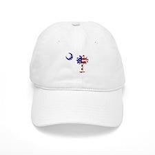Red White and Blue Palmetto Baseball Cap