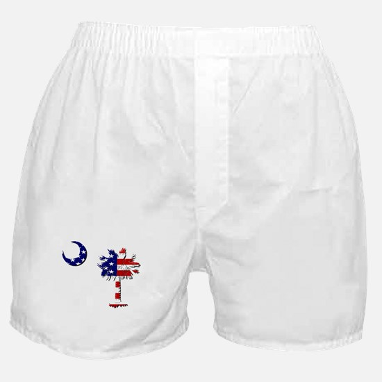 Red White and Blue Palmetto Boxer Shorts