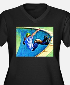 Skateboarding in the Bowl Plus Size T-Shirt