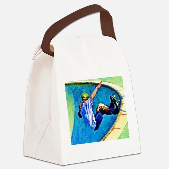 Cool Skateboard Canvas Lunch Bag