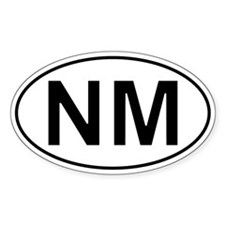 Nm - New Mexico Oval Car Decal