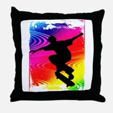 Funny Skateboard Throw Pillow
