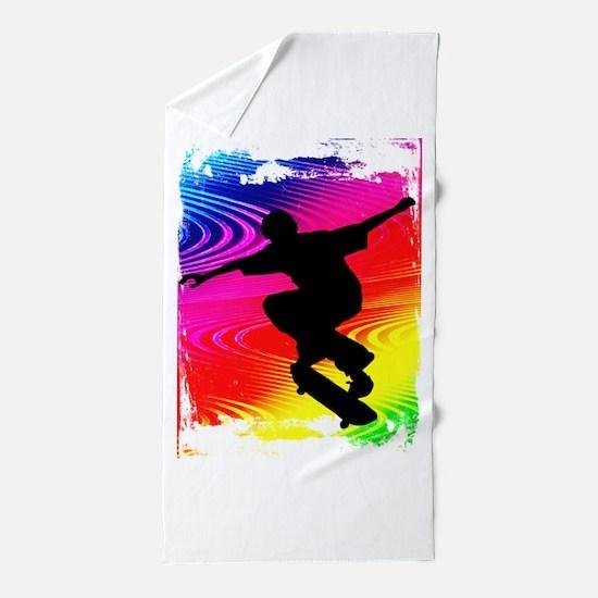 Unique Skateboard Beach Towel