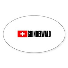 Grindelwald, Switzerland Oval Decal