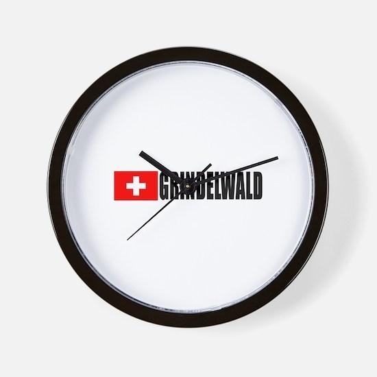 Grindelwald, Switzerland Wall Clock