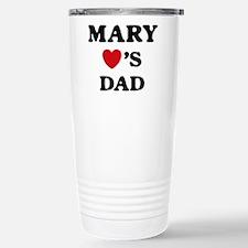 Cute Mary loves dad Travel Mug