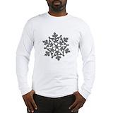 Gray snowflake Long Sleeve T-shirts