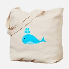 Happy Blue Whale Tote Bag