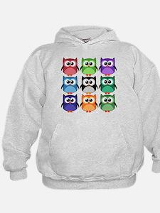 Rainbow of Cute Owls! Hoodie