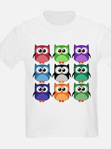 Rainbow of Cute Owls! T-Shirt