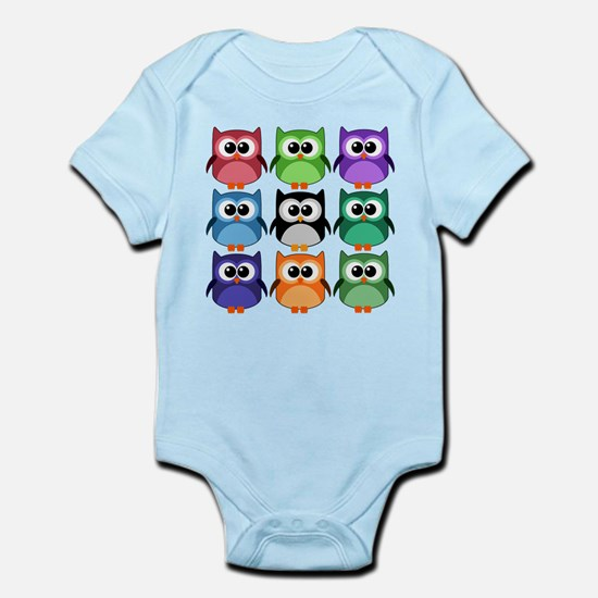 Rainbow of Cute Owls! Body Suit