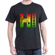 HI - Hawaii Rasta Surfer Colors T-Shirt