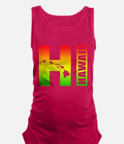 HI - Hawaii Rasta Surfer Colors Maternity Tank Top