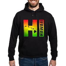HI - Hawaii Rasta Surfer Colors Hoodie