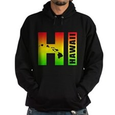 HI - Hawaii Rasta Surfer Colors Hoody