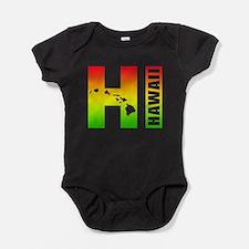 HI - Hawaii Rasta Surfer Colors Baby Bodysuit