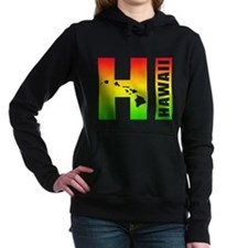 HI - Hawaii Rasta Surfer Women's Hooded Sweatshirt