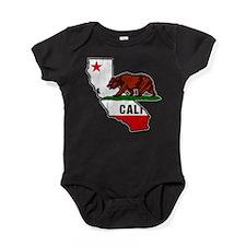 California Bear Flag Baby Bodysuit