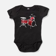 Cool Drum Set - Drummer Baby Bodysuit