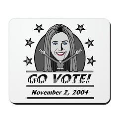Vote 2004 B&W Mousepad