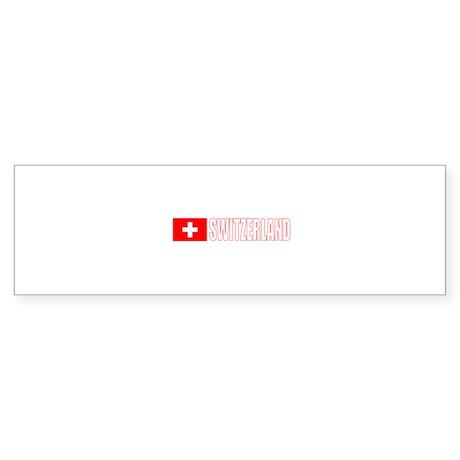 Switzerland Flag (Dark) Bumper Sticker