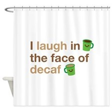 Cute Decaf Shower Curtain