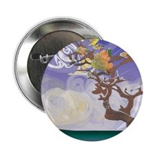 "Tree by the Sea 2.25"" Button"