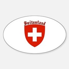 Switzerland Coat of Arms Oval Decal