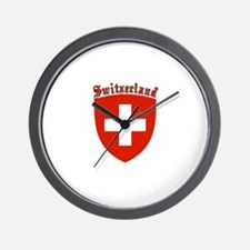 Switzerland Coat of Arms Wall Clock