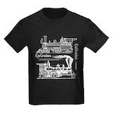 Steam locomotives Kids T-shirts (Dark)