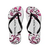 Pink personalized Flip Flops