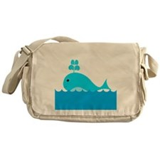 Blue Whale in the Ocean Messenger Bag