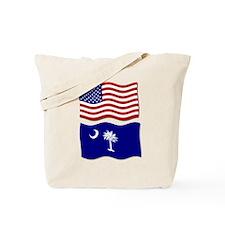 USA and SC Flags Tote Bag