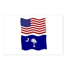 USA and SC Flags Postcards (Package of 8)
