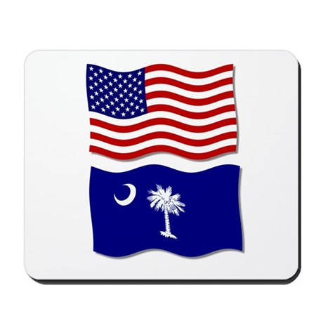 USA and SC Flags Mousepad
