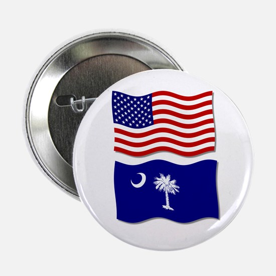 USA and SC Flags Button