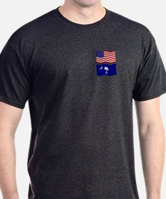 USA and SC Flags T-Shirt