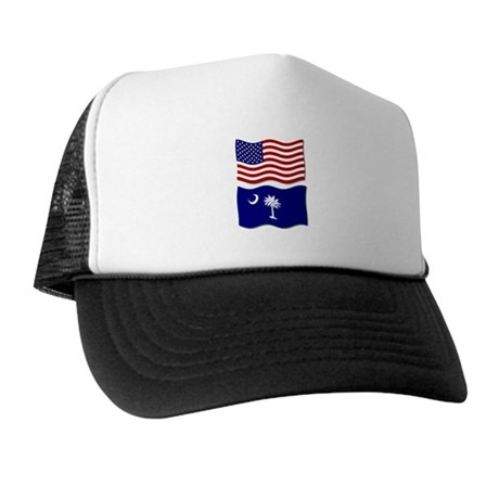 USA and SC Flags Trucker Hat