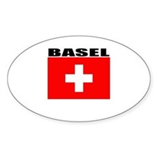 Basel, Switzerland Oval Decal