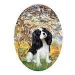 Spring & Tri Cavalier Ornament (Oval)