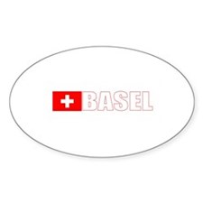 Basel, Switzerland Oval Decal