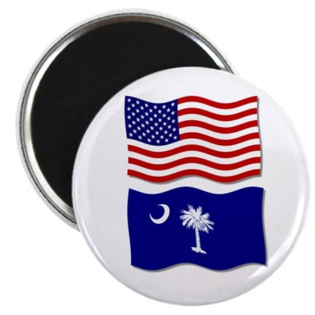 """USA and SC Flags 2.25"""" Magnet (100 pack)"""