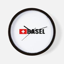 Basel, Switzerland Wall Clock