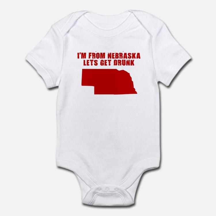 NEBRASKA SHIRT T-SHIRT I LOVE Infant Bodysuit