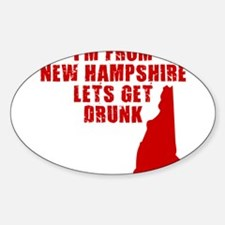 NEW HAMPSHIRE SHIRT T-SHIRT D Oval Decal